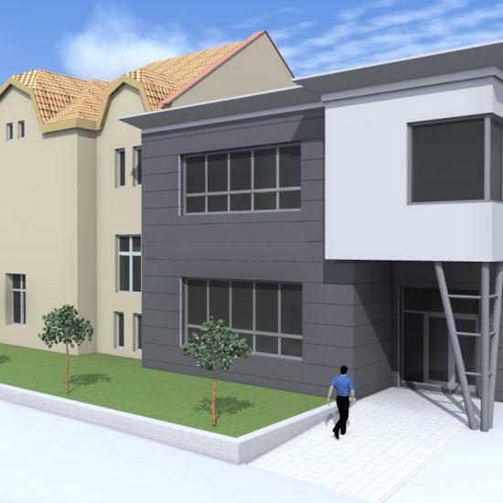 Přístavba ZŠ Opatovice – vizualizace